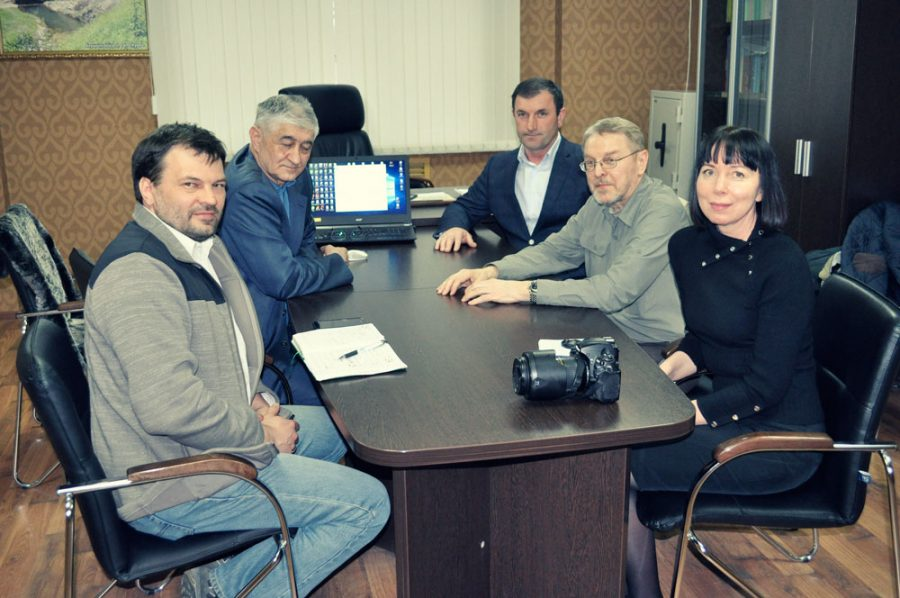 At the office of the Dagestaskiy State Nature Reserve.