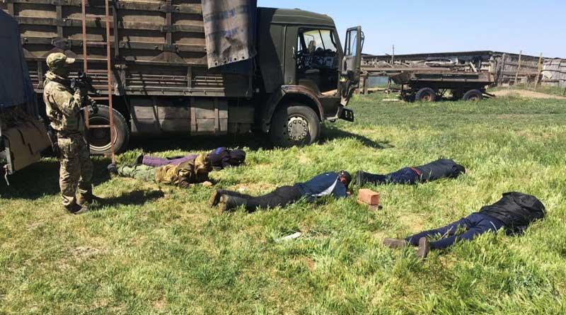 Sturgeon poaching. Dagestan