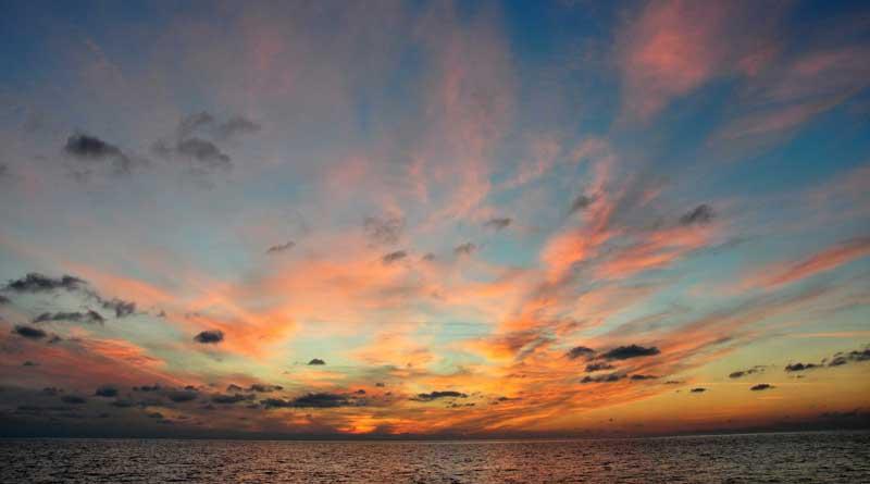The Caspian Sea. The photo by Polina Delia.