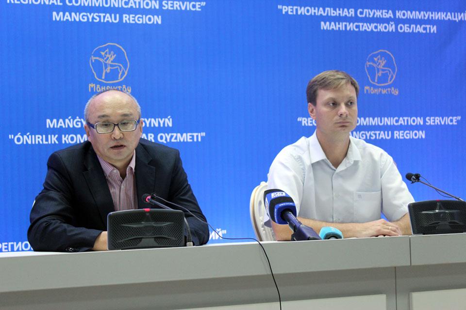 Брифинг в Региональной службе коммуникаций, Мангистауская область, Казахстан.