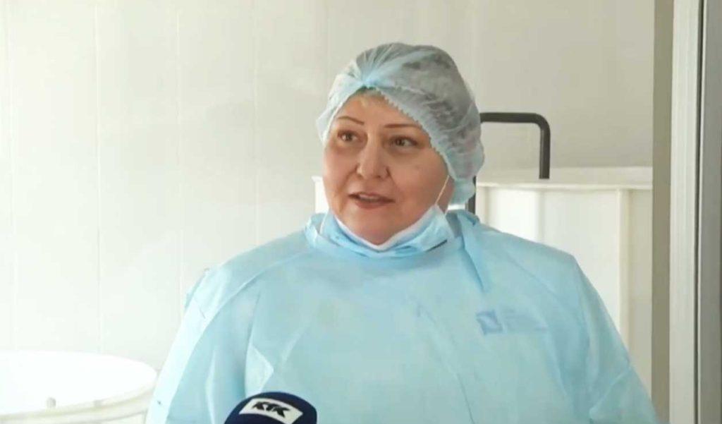 Anna Prostetova, a veterinarian of the Caspian Seals Research and Rehabilitation Center (Aktau, Kazakhstan).