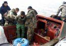 Astrakhan border guards caught poachers having Caspian seal skins