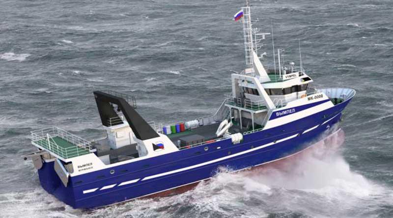 The icebreaker class fishing trawler for the Caspian.