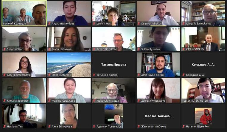 Участники II Международного вебинара «Методы и методики учета численности и актуальные вопросы сохранения популяции каспийского тюленя (Pusa сaspica)».